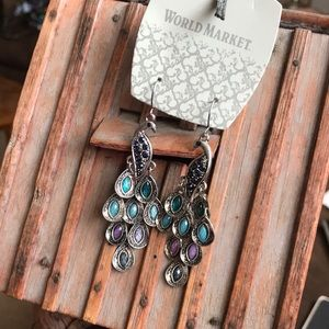 Beautiful and colorful peacock 🦚 earrings